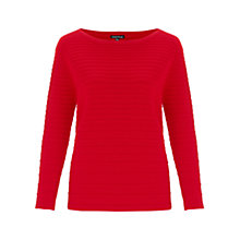 Buy Warehouse Graduated Ripple Stitch Jumper, Bright Red Online at johnlewis.com