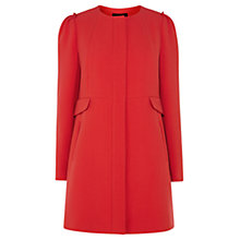 Buy Coast Nolita Crepe Coat, Red Online at johnlewis.com