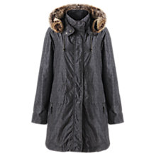 Buy Jigsaw Herringbone Print Parka, Dark Green Online at johnlewis.com