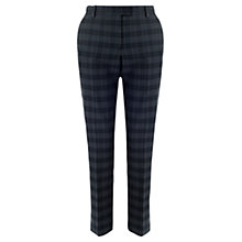 Buy Jigsaw Checked Trousers, Indigo Online at johnlewis.com