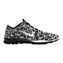 Buy Nike Free 5.0 Cheetah Print Women's Cross Trainers, Black/Ivory Online at johnlewis.com