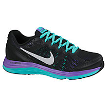 Buy Nike Dual Fusion Run 4 Running Shoes, Black/Hyper Turquoise/Hyper Grape Online at johnlewis.com