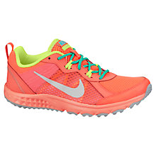 Buy Nike Wild Trail Running Shoes, Hyper Punch/Metallic Platinum Online at johnlewis.com