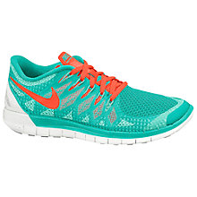 Buy Nike Free 5.0 Women's Running Shoes, Hyper Jade/Hyper Crimson Online at johnlewis.com