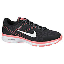 Buy Nike Dual Fusion TR 2 Print Training Shoes, Black/Dark Grey/Pink Online at johnlewis.com