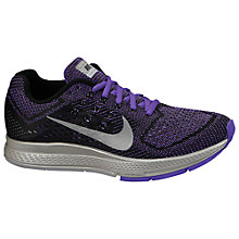 Buy Nike Zoom Structure 18 Flash Women's Running Shoes, Black/Hyper Grape/Reflect Silver Online at johnlewis.com