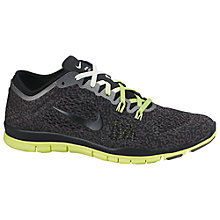 Buy Nike Free TR Fit 4 Print Training Shoe, Black/Ash Online at johnlewis.com