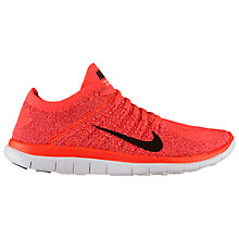 Buy Nike Free 4.0 Flyknit Running Shoes, Hyper Punch/Bright Crimson Online at johnlewis.com