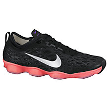 Buy Nike Zoom Fit Agility Women's Cross Trainers, Black/Hyper Punch Online at johnlewis.com