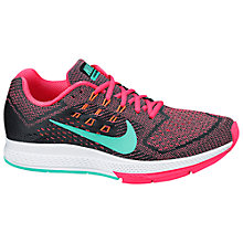 Buy Nike Air Zoom Structure 18 Women's Running Shoes, Hyper Punch/Hyper Turquoise Online at johnlewis.com
