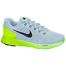 Buy Nike LunarGlide 6 Running Shoe, Antarctica/Volt Green Online at johnlewis.com