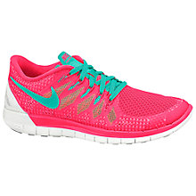 Buy Nike Free 5.0 Women's Running Shoes, Hyper Punch/Hyper Jade Online at johnlewis.com