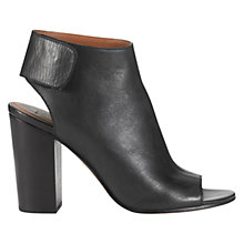 Buy Whistles Ania Open Toe Leather Shoe Boots, Black Online at johnlewis.com