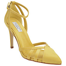 Buy COLLECTION by John Lewis Bellini Pointed Ankle Strap Court Shoes, Yellow Online at johnlewis.com