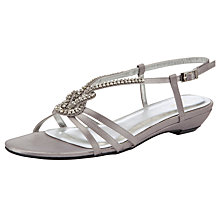 Buy John Lewis April Jewelled Sandals, Silver Online at johnlewis.com