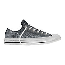 Buy Converse Chuck Taylor All Star Ox Embossed Leather Trainers, Charcoal Online at johnlewis.com