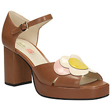 Buy Clarks Orla Kiely Betty Leather Platform Sandals, Tan Online at johnlewis.com