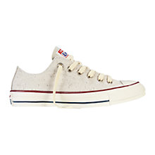 Buy Converse Chuck Taylor All Star Ox Sparkly Lurex Trainers, Natural Online at johnlewis.com