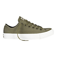 Buy Converse Chuck Taylor All Star Ox Surplus Canvas Trainers, Green Online at johnlewis.com