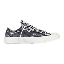 Buy Converse Chuck Taylor All Star Ox Reptile Canvas Trainers, Charcoal Online at johnlewis.com