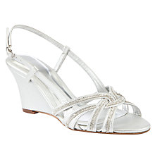 Buy John Lewis Disco Wedge Jewelled Sandals, Silver Online at johnlewis.com