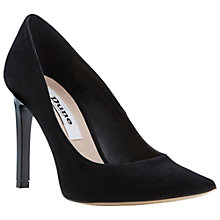 Buy Dune Arwenn Extreme Pointed Suede Court Shoes, Black Online at johnlewis.com