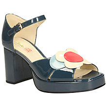 Buy Clarks Orla Kiely Patent Platform Sandals, Navy/Metallic Online at johnlewis.com
