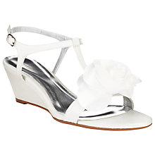 Buy John Lewis Manhattan Satin Wedge Sandals, Ivory Online at johnlewis.com
