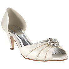 Buy John Lewis Mojito Satin Embellished Peep Toe Kitten Heels Online at johnlewis.com