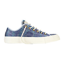 Buy Converse Chuck Taylor All Star Ox Basket Weave Canvas Trainers, Blue Online at johnlewis.com
