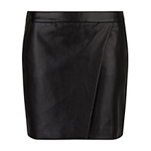 Buy Mango Faux Leather Wrap Skirt, Black Online at johnlewis.com