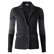 Buy Jigsaw Patchwork Knit Jacket, Grey Online at johnlewis.com
