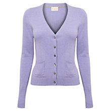Buy East V-Neck Button Cardigan, Lavender Online at johnlewis.com