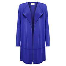 Buy East Drape Longline Merino Wool Cardigan, Iris Online at johnlewis.com