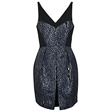 Buy French Connection Sparkle Ray Sleeveless V-Neck Dress, Silver Multi Online at johnlewis.com