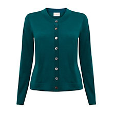 Buy East Crew Neck Wool Cardigan, Lagoon Online at johnlewis.com