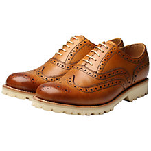 Buy Grenson Stanley Leather Brogue Shoes, Tan Online at johnlewis.com