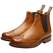 Buy Grenson Jacob Leather Chelsea Boots, Tan Online at johnlewis.com
