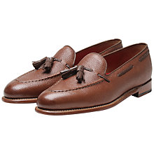 Buy Grenson Scott Leather Tassel Loafers, Brown Online at johnlewis.com