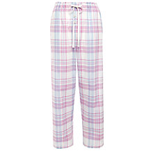 Buy John Lewis Check Pyjama Pants, Blue / Pink Online at johnlewis.com