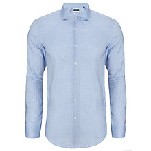Buy BOSS Jason Dot Print Shirt, Sky Blue Online at johnlewis.com