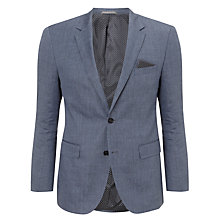 Buy BOSS The Keys Linen Blend Jacket, Blue Online at johnlewis.com