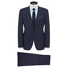 Buy BOSS The Keys Shaft Tonal Check Wool Suit, Airforce Online at johnlewis.com