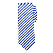 Buy BOSS Stripe Silk Tie, Blue/Cream Online at johnlewis.com