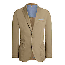 Buy BOSS Menvin-W Cotton Blazer, Stone Online at johnlewis.com