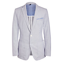 Buy BOSS Navon Fine Stripe Cotton Blazer, Grey Online at johnlewis.com