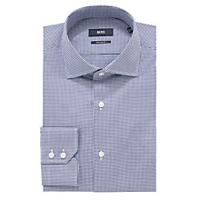 Buy BOSS Gerald Bengal Puppytooth Shirt, Navy Online at johnlewis.com