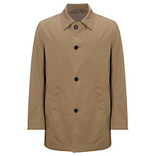 Buy BOSS Dais Cotton Blend Mac, Stone Online at johnlewis.com