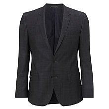 Buy BOSS Hutch Slim Fit Barleycorn Suit Jacket, Grey Online at johnlewis.com