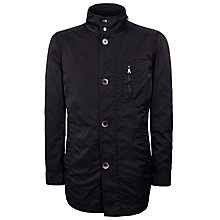 Buy BOSS Conat Jacket with Integrated Hood, Black Online at johnlewis.com